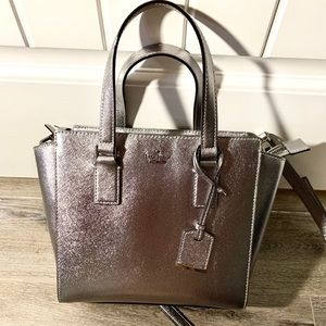 Silver Kate Spade bag - dust bag included